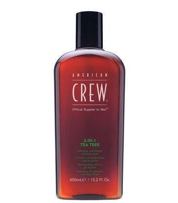 American Crew 3In1 Tea Tree Shampoo Conditioner and Body Wash 0071318 e1586784090305