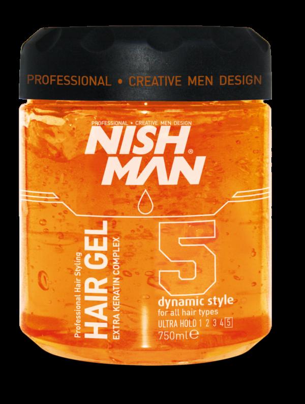Nishman HairStylingGel 5dynamicstyle 750ml 3D 2
