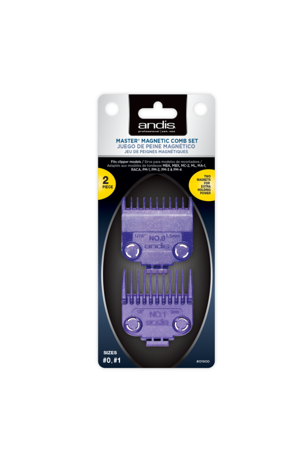 andis master magnetic comb set 0 1 01900 package