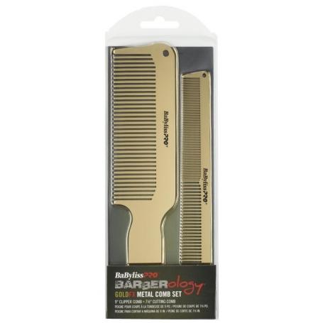 babyliss pro rose fx metal barber comb 2 piece set