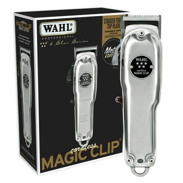 wahl pro 5 star cord cordless limited metal edition magic clip clipper 8509 3