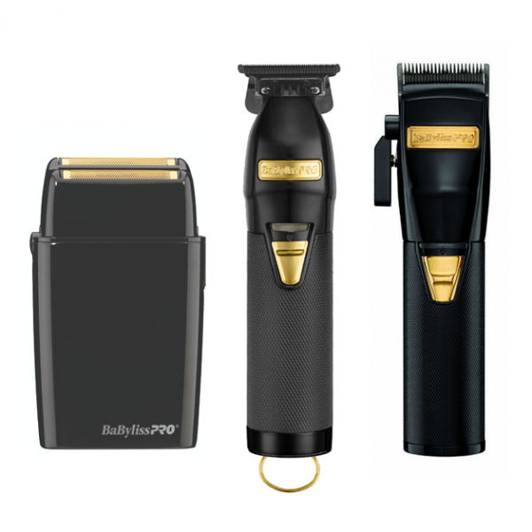 babyliss pro black clipper trimmer and shaver combo